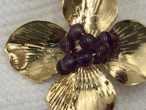 Flower-On -Flower Amethyst and Gold