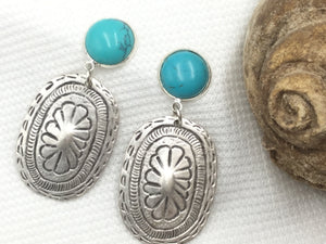 Artisan Silver Pendant With Turquoise