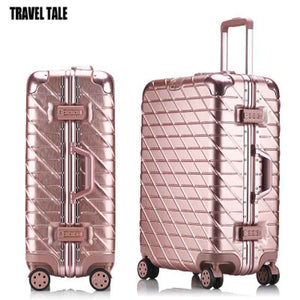 TRAVEL TALE aluminum frame spinner wheels travel suitcase 29 trolley travel luggage bag for trip