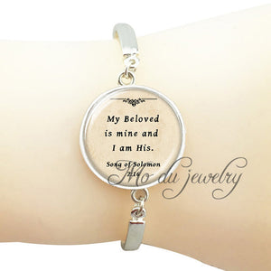 Personalized scripture jewelry Christian quote bangle bracelet bible faith quote jewelry silver spiritual bangle Psalm pendant