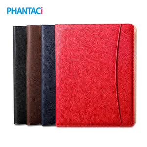 High Quality Faux Leather A4 Financial File Folder with Clip Business Office Document Bag Stationery Supply