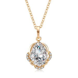 Fashion Chic Big Zircon Necklace Pendant Necklaces Valentine's Day Mother's Day Birthday Gift for Women Girls