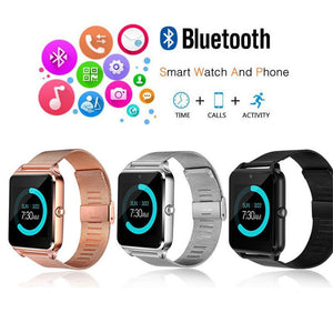 Z60 Smart Watch Bluetooth Android Phone Call 2G Gsm Sim Tf Card Camera Watch