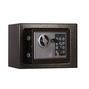 Digital Security Cabinet Safe Box Solid Steel Construction Money Box For Home Office Safety Use with Keypad and Override Key(Black)