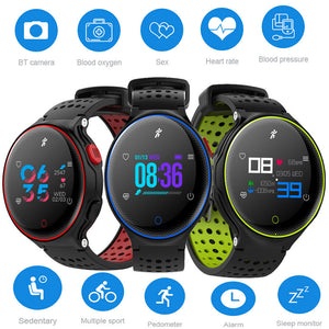 X2 Plus Smart Watch Heart Rate Blood Pressure Monitoring Sleep Monitor Pedometer IP68 Waterproof Bluetooth Wristwatch Long Standby Men Women Bracelet  Health Watch  for Android IOS