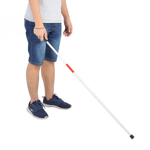 Folding Foldable Reflective Cane Crutch Portable Anti-Shock Guide Walking Stick for The Blind