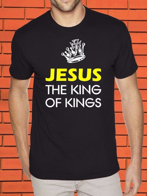Jesus The King Praise God Worship Spiritual Christianity Bible Sayings T Shirt  Free shipping Tops Fashion Classic Unique gift