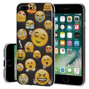 Soft Gel TPU Soft Skin Case Mixed Emotions 2 for iPhone 7 Plus - Clear