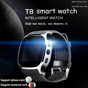 Hot Sell T8 support card SIM card Bluetooth 4.0 smart sports swatch smart wearable device Android system smart watch