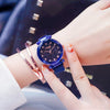 2019 Popular Women Watches Fashion Elegant Magnet Buckle Luxury Purple Lady Wristwatch 2019 Starry Sky Roman Numeral Gift Clock