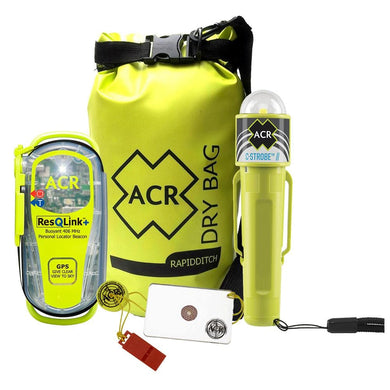 ACR PLB Adventure Kit Includes 2881 ResQLink 406 PLB C-Strobe LED Emergency Strobe Hot Shot Mirror w-Float Whistle Rapid Ditch Dry Bag