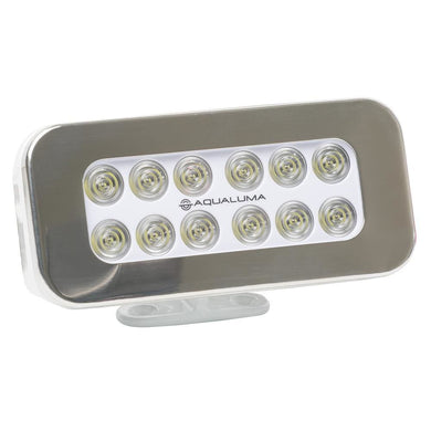 Aqualuma Bracket Mount Spreader Light 12 LED - Stainless Steel Bezel [SL12BMS] - Flood/Spreader Lights aqualuma-led-lighting Brand_Aqualuma