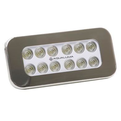 Aqualuma Flush Mount Spreader Light 12 LED - Stainless Steel Bezel [SL12FMS] - Flood/Spreader Lights aqualuma-led-lighting Brand_Aqualuma