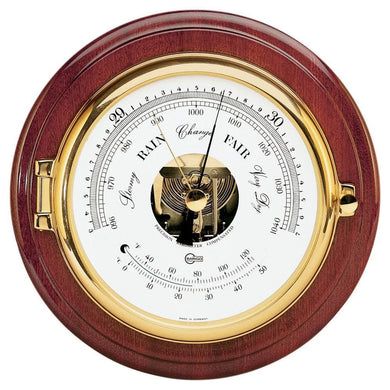 BARIGO Captain Series Barometer - Thermometer - Brass Mahogany - 6 Dial [1586MS] - Clocks & Barometers Brand_BARIGO clocks-barometers Marine