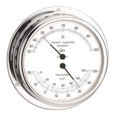 BARIGO Hygro--Thermometer - Chromed Brass [930] - Clocks & Barometers barigo Brand_BARIGO clocks-barometers Marine Instruments | Clocks &