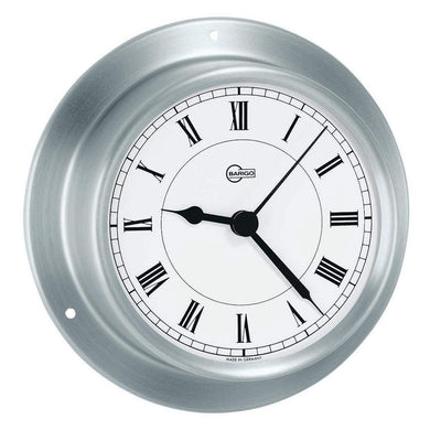 BARIGO Sky Series Quartz Ships Clock - Brushed Stainless Steel Housing - 3.3 Dial [683RF] - Clocks & Barometers Brand_BARIGO