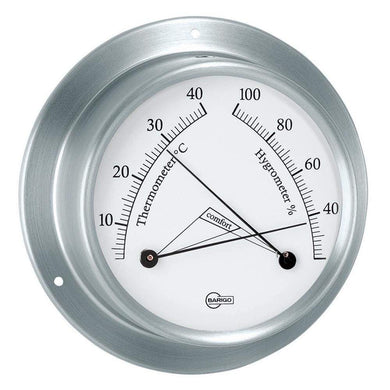 BARIGO Sky Series Ships Comfortmeter - Brushed Stainless Steel Housing - 3.3 Dial [983RF] - Clocks & Barometers Brand_BARIGO