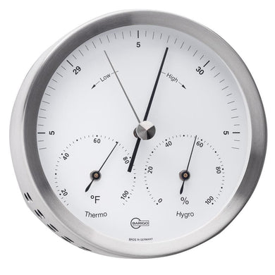 BARIGO Steel Series Barometer - Thermometer - Hygrometer - Stainless Steel Housing - 4 Dial [317M] - Clocks & Barometers Brand_BARIGO
