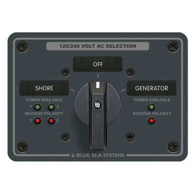 Blue Sea AC Rotary Switch Panel 65 Ampere 2 Positions + OFF 4 Pole [8369] - Electrical Panels Brand_Blue Sea Systems electrical Electrical |