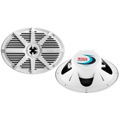 Boss Audio MR692W 6 x 9 2-Way 350W Marine Full Range Speaker - White - Pair [MR692W] - Speakers Brand_Boss Audio entertainment Entertainment