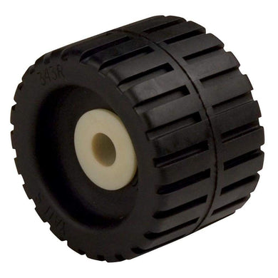 C.E. Smith Ribbed Wobble Roller 4-3-8 - 5-8ID w-Bushing Black [29531] - Trailer Accessories Boat Outfitting | Trailer Accessories Brand_C.E.