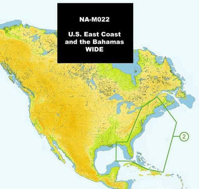 C-MAP NA-M022 Max Wide SD Card East Coast And Bahamas - Cartography c-map cartography Cartography - C-MAP Max navico C-Map 686074002708