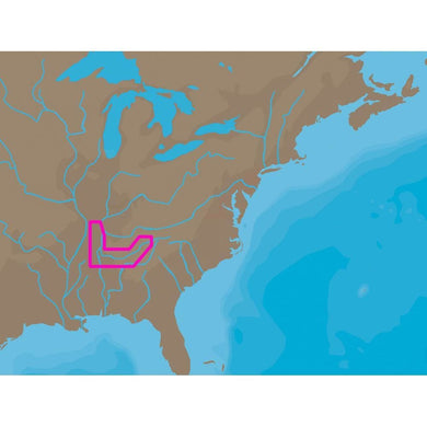 C-MAP NT+ NA-C041 - TN River Paducah-Knoxville - Furuno FP-Card [NA-C041FURUNOFP] - C-Map NT+ Brand_C-MAP cartography Cartography | C-Map