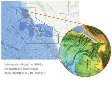C-map Reveal Ultra High Resolution Bathymetric Chart San Diego To Santa Cruz - Cartography Cartography - C-MAP Precision C-Map 9420064111404