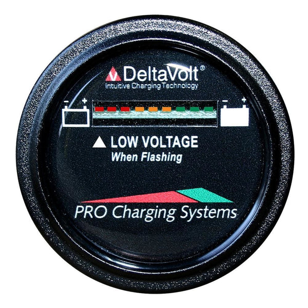 Dual Pro Battery Fuel Gauge - DeltaView Link Compatible - 12V System (1-12V Battery 2-6V Batteries) [BFGWOV12V] - Meters Brand_Dual Pro