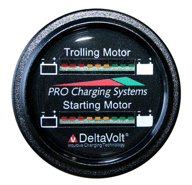Dual Pro Battery Fuel Gauge For 2 - 12v Systems - Instruments dual-pro-chargers Gauges - Battery instruments marine-instruments Dual Pro
