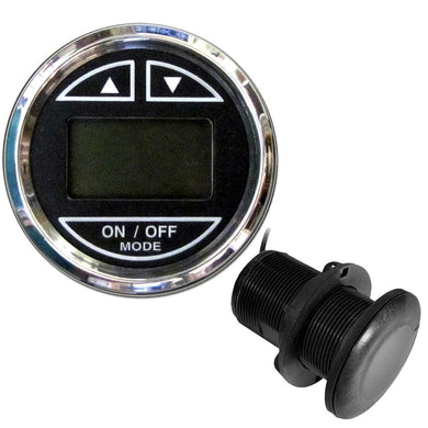 Faria 2 Depth Sounder w-Thru-Hull Transducer - Chesapeake Black - Stainless Steel Bezel [13795] - Instruments - Depth/Temp Boat Outfitting |