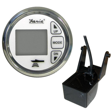 Faria 2 Dual Depth Sounder w-Air Water Temp Transom Mount Transducer - Chesapeake SS White [13852] - Instruments - Depth/Temp Boat
