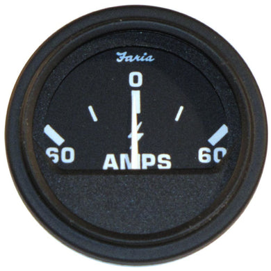 Faria 2 Heavy-Duty Ammeter (60-0-60) - Black [23006] - Gauges Boat Outfitting | Gauges Brand_Faria Beede Instruments gauges Marine