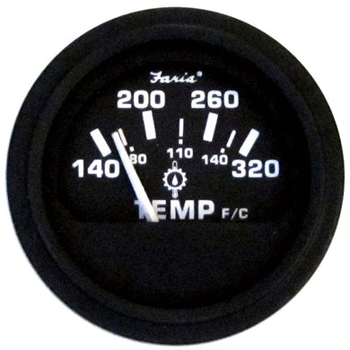 Faria 2 Heavy-Duty Oil-Temp Gauge (140-320 F-C) - Black [23002] - Gauges Boat Outfitting | Gauges Brand_Faria Beede Instruments gauges