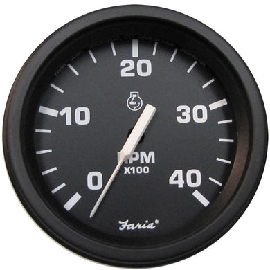 Faria 4 Heavy-Duty Tachometer (4000 RPM) (Diesel) (Mag Pick-Up) - *Bulk Case of 12* [TD9135B] - Gauges Boat Outfitting | Gauges Brand_Faria