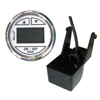 Faria Chesapeake SS White 2 Depth Sounder w-Transom Mount Transducer [13850] - Gauges Boat Outfitting | Gauges Brand_Faria Beede Instruments