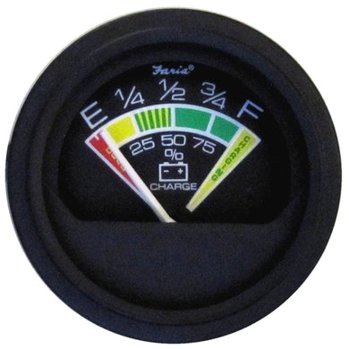 Faria Heavy-Duty 2 Battery Condition Indicator - 12 VDC - Black *Bulk Case of 24* [VP0134B] - Gauges Boat Outfitting | Gauges Brand_Faria