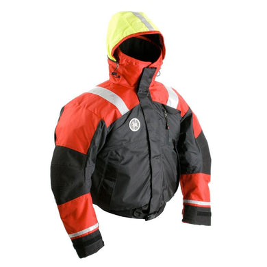 First Watch AB-1100 Flotation Bomber Jacket - Red-Black - Large [AB-1100-RB-L] - Flotation Coats/Pants Brand_First Watch