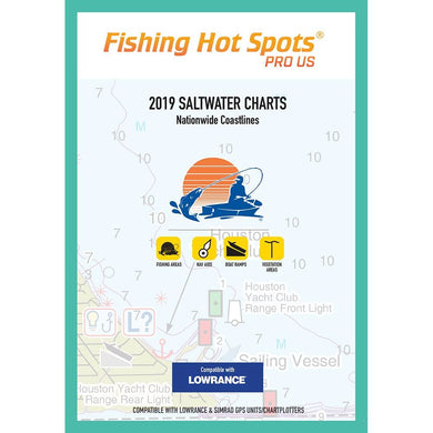 Fishing Hot Spots Pro SW 2019 Saltwater Charts Nationwide Coastlines f-Lowrance Simrad Units [E189] - Lowrance Brand_Fishing Hot Spots