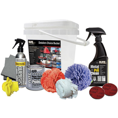 Flitz Detailers Choice Bucket [PDK 25502] - Cleaning Automotive/RV | Cleaning Boat Outfitting | Cleaning Brand_Flitz cleaning flitz Flitz