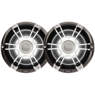 FUSION SG-CL65SPC Signature Series Speakers 6.5 Grill - 230 W -Silver-Chrome - Entertainment Speakers FUSION 753759197926