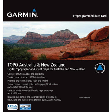 Garmin TOPO - Australia & New Zealand - microSD-SD [010-C1049-00] - Garmin Topographical Brand_Garmin cartography Cartography | Garmin