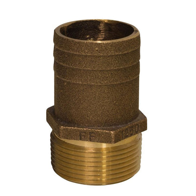 GROCO 1-1-4 NPT x 1-1-2 Bronze Full Flow Pipe to Hose Straight Fitting [FF-1250] - Fittings Brand_GROCO fittings groco Marine Plumbing &