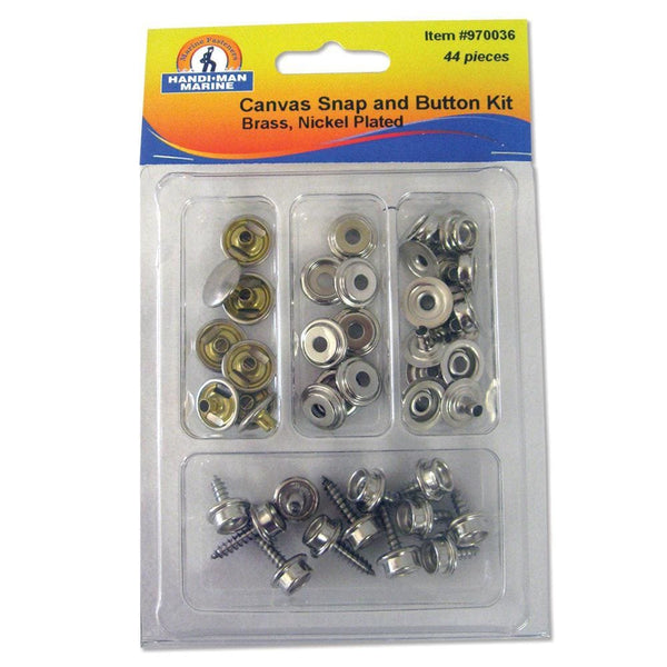 Handi-Man Small Canvas Snap & Button Kit - 44 Pieces [970036] - Fasteners Brand_Handi-Man Marine fasteners Marine Hardware | Fasteners