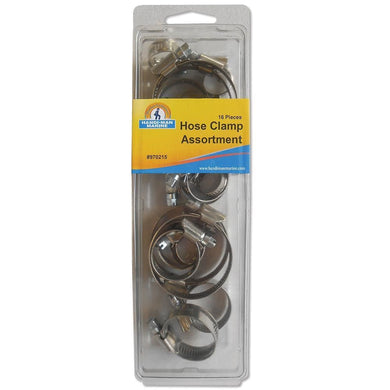 Handi-Man Stainless Steel Hose Clamp Kit -16 Pieces [970215] - Hooks & Clamps Brand_Handi-Man Marine hooks-clamps Marine Hardware | Hooks &