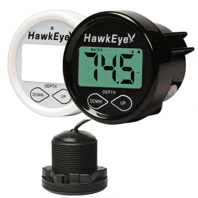 HawkEye DepthTrax 1BX In-Dash Digital Depth & Temp Gauge - Thru-Hull - Marine Instruments Instruments - Depth/Temp Hawkeye
