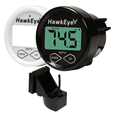 HawkEye DepthTrax 1BX In-Dash Digital Depth & Temp Gauge - Transom Mount - Marine Instruments Instruments - Depth/Temp Hawkeye 818800010118