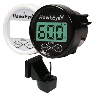 HawkEye DepthTrax 2B In-Dash Digital Depth Gauge - TM-In-Hull - Marine Instruments Instruments - Depth/Temp Hawkeye