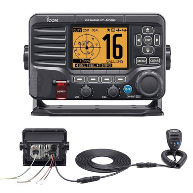 Icom M506 VHF Fixed Mount w-Rear Mic & NMEA 0183-2000 - Black [M506 31] - VHF - Fixed Mount Brand_Icom communication Communication | VHF -