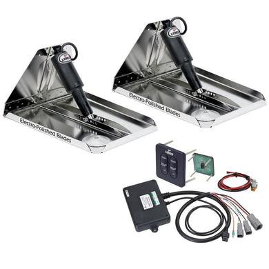 Lenco 18 x 14 Heavy Duty Performance Trim Tab Kit w-Standard Tactile Switch Kit 12V [RT18X14HD] - Trim Tabs Boat Outfitting | Trim Tabs
